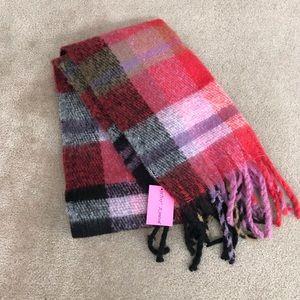 NEW!! Betsey Johnson Plaid Blanket Scarf & Wrap